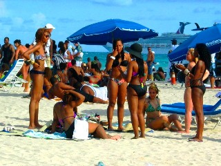 Group of Beautiful Black Girls in 