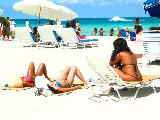 Outstanding Bikini Thong Babe 