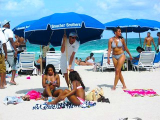 Pretty Beach Girls Preparing for the Sun - © 2012 Jimmy Rocker Photography