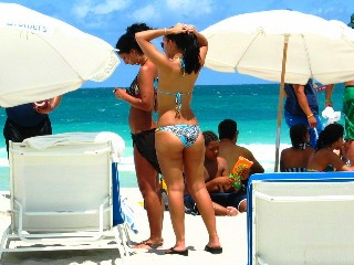 Latina Beach Babe Blessed with Hot 