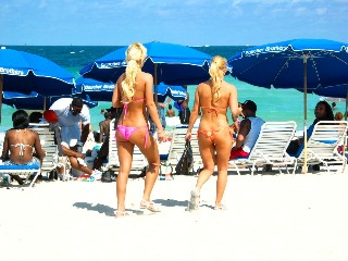 Stunning Blonde Bikini Beauties - 