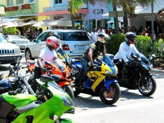 Dynamic SoBe Bikers - © 2009 Jimmy Rocker Photography