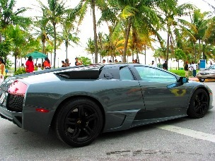 SoBe Grey Lamborghini #3 - © 2009 Jimmy Rocker Photography