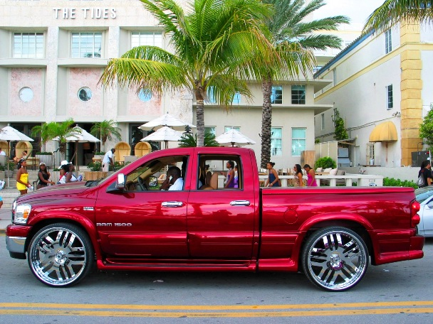 The Tides Red Dodge Ram - © 2oo9 JiMmY RocKeR PhoToGRaPhY