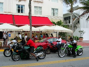 South Beach Motorcycle Riders - © 2009 Jimmy Rocker Photography