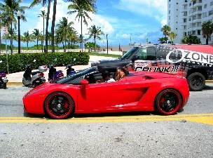 Red Hot SOBE Lamborghini - © 2009 Jimmy Rocker Photography